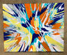 11x14 spin art painting with acrylic on stretched canvas