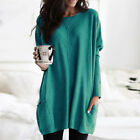 Plus Size Women Casual T-shirt Sweater Top Pullover Jumper Tunic Loose Blouse US
