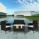 Rattan Garden Furniture Set 4 Piece Chairs Sofa Table Outdoor Patio Set Uk