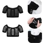 Girls Kids Hollow Out Tank Top Crop Tops Gymnastics Dance Costumes Casual Tops
