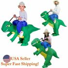 Inflatable Dino Ride Dinosaur Rider Costume Outfit for Halloween Party Role Play