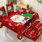 Christmas Dining Tablecloth Chair Cover Set XMAS Party Decor Santa Snowman YEE