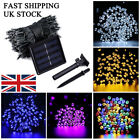 50 100 200 LED Solar Powered String Fairy Lights Garden Outdoor Party Christmas