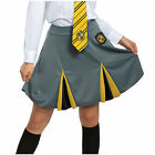 Womens/Teen Harry Potter Hufflepuff Uniform Halloween Costume Skirt Jr S M L XL