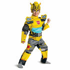 Boys Transformers Bumblebee Toddler Halloween Costume Padded Muscle Chest 2T-4T