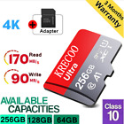 256GB Krecoo Ultra Micro SD Card Class 10 4K 170MB/s TF Memory Card with Adapter
