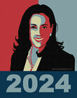 Kamala Harris 2024 Poster-Type BUMPER STICKER or MAGNET magnetic decal 4.25x5.5""
