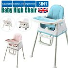 3 in 1 Portable Baby Toddler High Chair Folding Comfortable Feeding Table Seat