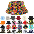 Men Women Floral Bucket Hats Fishing Sun Beach Travel Outdoor Cap Holiday Unisex