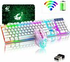 US Wireless Gaming Keyboard and Mouse and Mice Pad Combo for Computer Mac Gamer