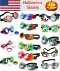 Halloween costume Goggles Gothic Steampunk Cosplay Antique Spikes Vintage Glass