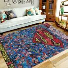 Superman Area Rug Geeky Carpet Floor Decor