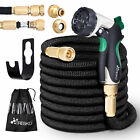 Premium Expandable Flexible Garden Hose Pipe Latex With Brass Fittings Spray Gun