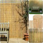 Natural Bamboo Garden Slat Fence Privacy Screening Fencing Screen Roll Panel New