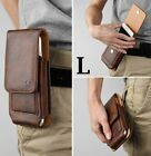 """iPhone 12 (6.1"""") - Leather Belt Clip Pouch Holster Card Pocket Holder Case Cover"""