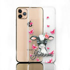 Personalised Initial Phone Case, Cow On Clear Hard Cover For iPhone XR/11/12/Pro
