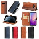For Samsung Galaxy S8 S9 S10 S7 S6 Case Wallet Card Leather Magnetic Phone Cover
