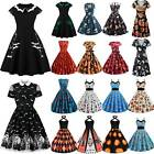 Halloween Women Rockabilly Swing Skater Dress Printed Party Festival Costume Hot