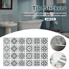 24pcs Home Decor Tile Stickers Waterproof Decals Kitchen Bathroom Retro Wall Art