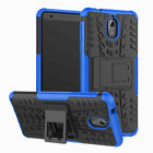 For Nokia 2.3/2.1/5.1/6.1/7.1/2.2 Rugged Armor Shockproof Stand Phone Case Cover