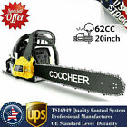 COOCHEER 62CC 20 Gas Chainsaw Handed Petrol Chain Woodcutting 2 Cycle 4HP e 250