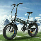 20INCH 500W Folding Electric Bike Fat Tire Mountain Bicycle 12.5Ah Snow b e 07