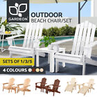 Gardeon Outdoor Furniture Lounge Chairs Table Set Beach Chair Patio Adirondack