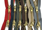"YKK Parka Two-Way Separating Zipper #10 Brass Metal Dual Heavy Duty 12"" to 36"""