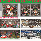 Christmas Window Stickers Xmas Santa Uk Removable Art Decal Wall Home Shop Decor