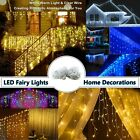 4M 100led Curtain Icicle Lights LED Fairy Wedding Party Christmas Indoor Outdoor