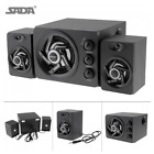 SADA D-211 3 in 1 Home Speaker 3.5mm Wired Speakers Music Player Subwoofer A3F3