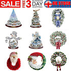 Xmas Santa Removable Window Stickers Festival Art Decal Wall Shop Home Decor Uk