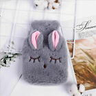 Hot Water Bottle Faux Fur With Plush Cosy Soft Warm Cute Fluffy Kids Adult Cover