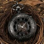 Mens Pocket Watch Mechanical White Face silver Gold Vintage Chain Hand-winding