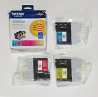 Genuine Brother LC613PKW LC61CL 3-Pack Ink Cartridges: Cyan Magenta Yellow 07/21