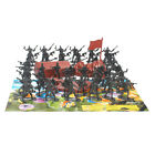 41x+Military+4cm+Figures+Army+Men+Plastic+Toy+Soldier+Play+Set+%26+2+Flags