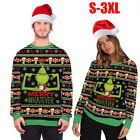 Christmas Thief Green Monster Grinch Jumper Sweater Funny 3D Pullover Tops US