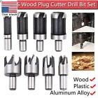 4/8 PCS Wood Drill Bits Four-tooth Tapered Straight Plug Cutters Bench Drill Bit