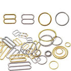 Free shipping 50sets alloy metal bra accessories replacement O-rings and Sliders