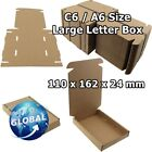 ROYAL MAIL BROWN LARGE LETTER CARDBOARD POSTAL MAILING BOX C6 A6 / C5 A5 FREE PP
