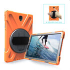 """For Samsung Tab S2 S3 8"""" 9.7"""" Hybrid Hand Strap Rugged Armor Stand Case Cover"""