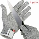 Pair Anti-cut Gloves Safety Cut Proof Stab Resistant Kitchen Butcher Cut-Resi