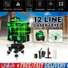 3D 12 Line Green Light Laser Level Horizontal Vertical Cross Auto Self Leveling