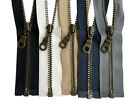 """YKK # 3 Antique Brass Metal Jacket Zippers with Donut Pull Separating  7""""  -36"""""""