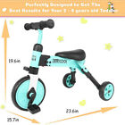 2-in-1 Foldable Children's Tricycle, Toddler Tricycle For Children Aged 2 - 4