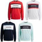 Jack & Jones Sweater Mens Long Sleeve Crew Neck Chest Logo Sweatshirt