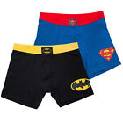 Batman & Superman Men's Boxer Briefs 2-Pack Multi-color