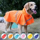 Large Dog RainCoat Pet Jacket Puppy Outdoor Clothes Waterproof Hooded USA