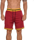 Mens Casual Mesh Shorts Basketball Sports Two Toned Gym Fitness Workout Summer