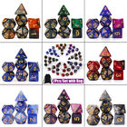 Galaxy 7pcs/Set Polyhedral Dice for DND RPG MTG Game Dungeons  Dragons Bags